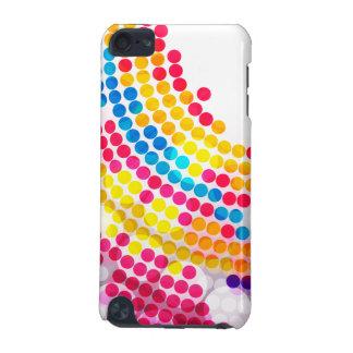 Buntes Farbekreis-Punkt-Muster für Mädchen iPod Touch 5G Hülle