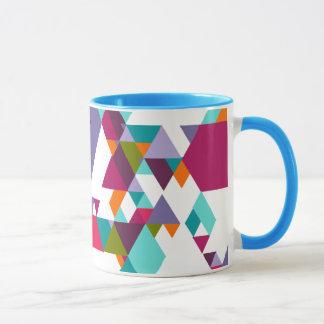 Buntes geometrisches Dreieckmuster Tasse