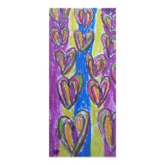 Buntes Herz 12,2 X 22,9 Cm Kartendruck