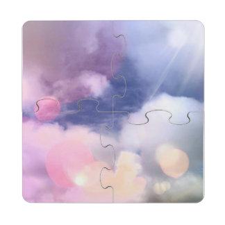 Buntes Himmel-Untersetzer-Puzzlespiel Puzzle Untersetzer