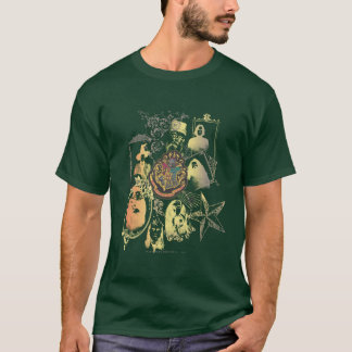 Buntes Hogwarts Wappen Harry Potter | T-Shirt