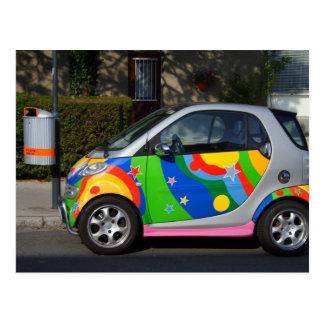Buntes intelligentes Auto Postkarte