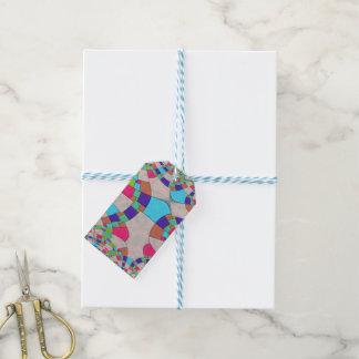 Buntes Kunst-Deko-Fliesen-Mosaik Geschenkanhänger