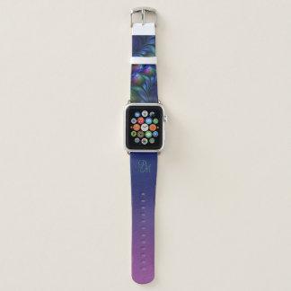 Buntes leuchtendes blaues rosa grünes apple watch armband