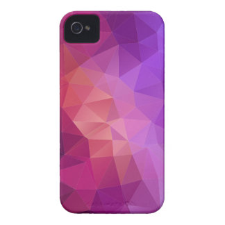 Buntes lila pinkfarbenes geometrisches Muster iPhone 4 Cover