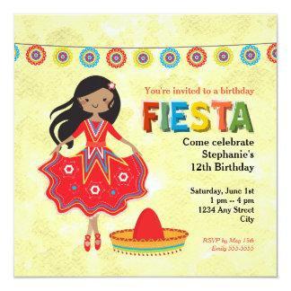 Buntes mexikanisches Fiesta-Kindergeburtstag-Party Karte