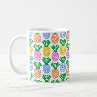 Buntes modisches Ananas-Muster Kaffeetasse