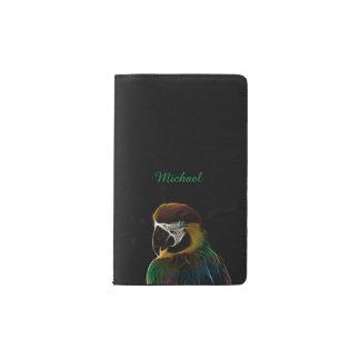 Buntes Papageien-Fraktal Digital Moleskine Taschennotizbuch