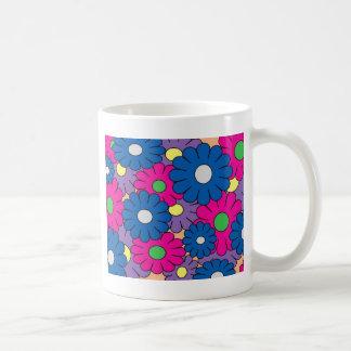 Buntes popart Blumenmuster Tasse