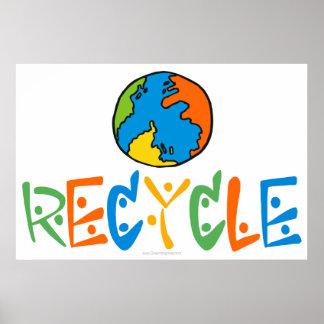 Buntes Recyceln Poster