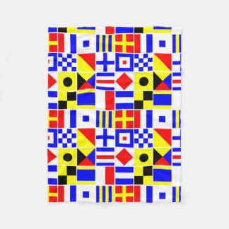 Buntes Seesignal-Flaggen-Muster Fleecedecke