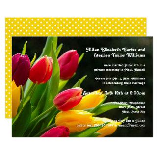 Buntes Tulpe-Foto - Hochzeits-Mitteilung Karte