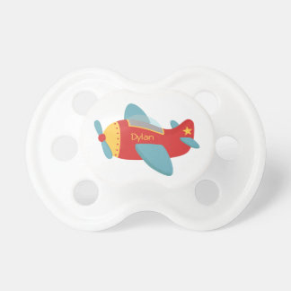 Buntes u. entzückendes Cartoon-Flugzeug Schnuller