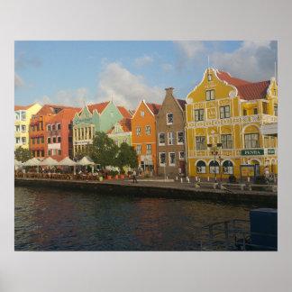 Buntes Willemstad Curaçao Plakat