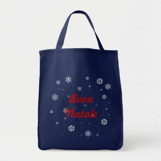 Buon Natale Schneeflocken Tragetasche
