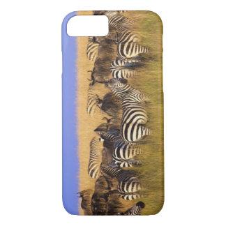 Burchells Zebras und Wildebeest im hohen Sommer iPhone 8/7 Hülle