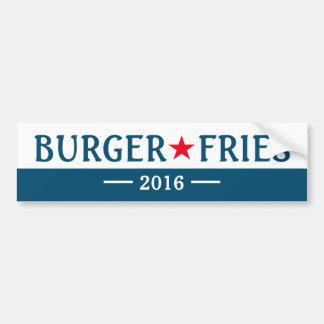 Burger brät lustigen Autoaufkleber der Wahl-2016