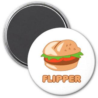 Burger-Flipper Runder Magnet 7,6 Cm