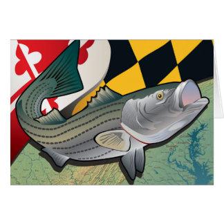 Bürger-Klippenbarsch von Maryland Grußkarte