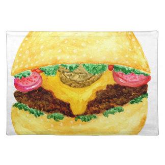 Burger-Nahrung 2 Stofftischset