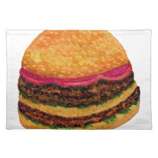 Burger-Nahrung 3 Stofftischset