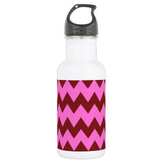 Burgunder - rosa Zickzack Trinkflaschen