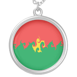 Burkina Faso Gnarly Flagge Personalisierter Schmuck