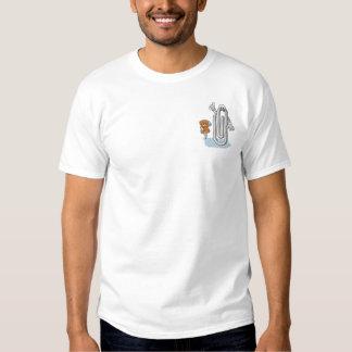 Büroklammer-und Daumen-Reißnagel Besticktes T-Shirt