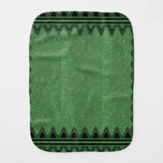 Burp-Stoff-Grün Jewels Glitzern-künstlerische Baby Spuchtücher