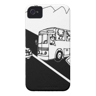 Bus-Cartoon 3251 iPhone 4 Cover