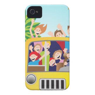 Bus-Reitleute-Cartoon iPhone 4 Etuis