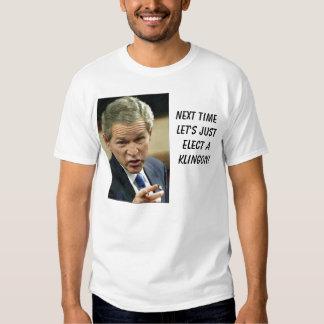 bush_points, aKlingon das justelect der folgenden T-Shirt