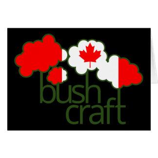 Bushcraft Kanada Flagge Grußkarte