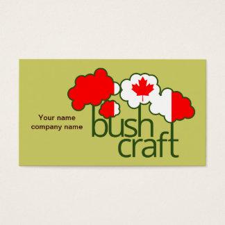 Bushcraft Kanada Flagge Visitenkarte