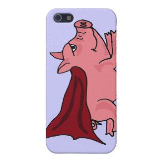 BX-, Fliegen des Superschwein-Cartoon iPhone 5 Schutzhüllen