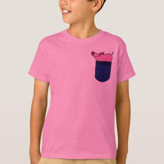 BZ, Schwein in einem Taschen-Shirt T-Shirt