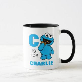 C ist für Plätzchen-Monster, das | Ihren Namen Tasse