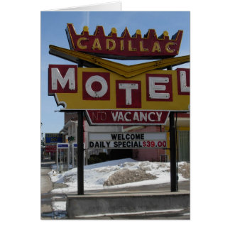 Cadillac-Motel Karte