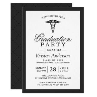 Caduceus-Symbol-medizinische SchulAbschluss-Party 12,7 X 17,8 Cm Einladungskarte