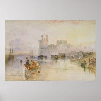 Caernarvon Schloss Poster