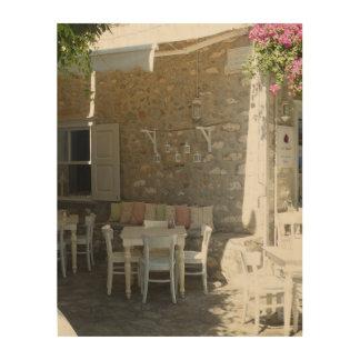 Café-rustikaler Charme, Leinwand des Holzes 11x14 Holzleinwand