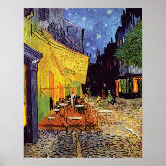 Café-Terrasse nachts durch Vincent van Gogh Poster