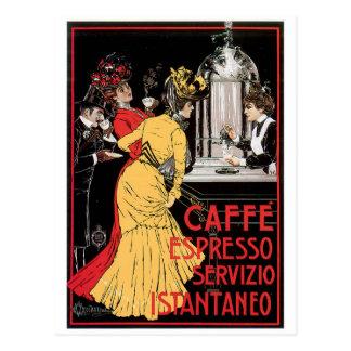 Caffe Espresso-Vintage Postkarte