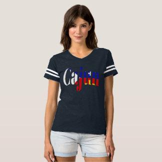 Cajun akadisches Flaggen-Louisiana-Fußball-T-Shirt T-shirt