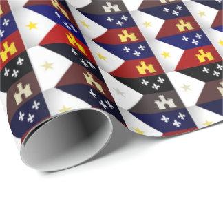 Cajun Thema-akadisches Flaggen-Packpapier Geschenkpapier