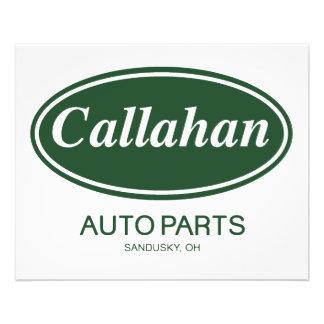 Callahan Auto-Teile 11,4 X 14,2 Cm Flyer