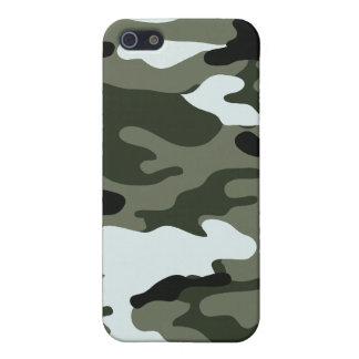 Camouflage-Armee-Grün-Schwarz-weißes Speck-Kasten  iPhone 5 Case
