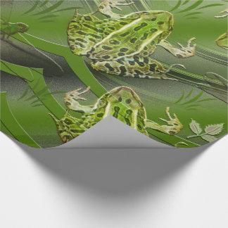 Camouflage-Frosch-Libellen Geschenkpapier