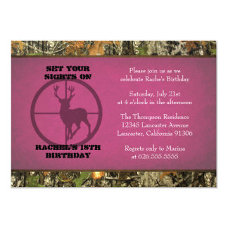 Camouflage-Geburtstags-Mädchen-Einladungen 12,7 X 17,8 Cm Einladungskarte
