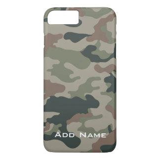 Camouflage-Muster für Jäger oder Militär mit Namen iPhone 8 Plus/7 Plus Hülle